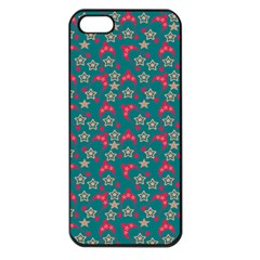 Teal Hats Apple Iphone 5 Seamless Case (black)