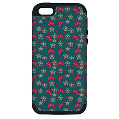 Teal Hats Apple Iphone 5 Hardshell Case (pc+silicone) by snowwhitegirl