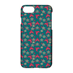 Teal Hats Apple Iphone 7 Hardshell Case by snowwhitegirl