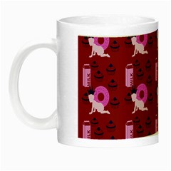 Punk Baby Red Night Luminous Mugs by snowwhitegirl