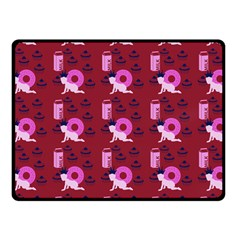 Punk Baby Red Fleece Blanket (small) by snowwhitegirl