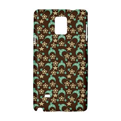 Brown With Blue Hats Samsung Galaxy Note 4 Hardshell Case by snowwhitegirl
