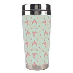 Mauve Winter Hat Stainless Steel Travel Tumblers by snowwhitegirl