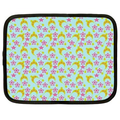 Blue Star Yellow Hats Netbook Case (large) by snowwhitegirl