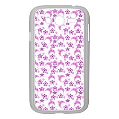 Violet Winter Hats Samsung Galaxy Grand Duos I9082 Case (white) by snowwhitegirl