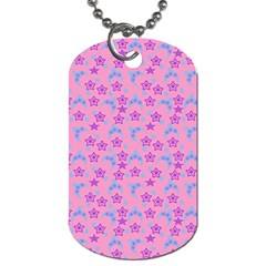 Pink Star Blue Hats Dog Tag (two Sides) by snowwhitegirl