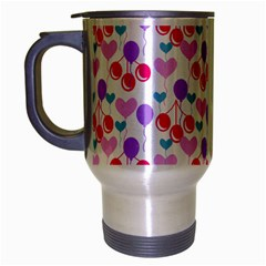Pastel Cherries Travel Mug (silver Gray) by snowwhitegirl