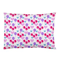 Pastel Cherries Pillow Case (two Sides) by snowwhitegirl
