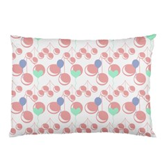 Bubblegum Cherry White Pillow Case by snowwhitegirl