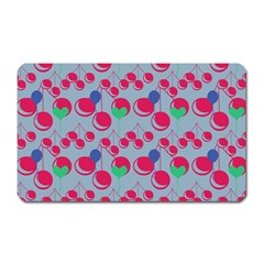 Bubblegum Cherry Blue Magnet (rectangular) by snowwhitegirl