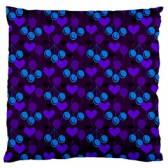 Night Cherries Large Cushion Case (one Side) by snowwhitegirl