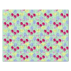 Birthday Cherries Rectangular Jigsaw Puzzl by snowwhitegirl