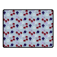 Sky Cherry Double Sided Fleece Blanket (small)  by snowwhitegirl