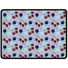 Sky Cherry Double Sided Fleece Blanket (large)  by snowwhitegirl