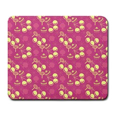 Yellow Pink Cherries Large Mousepads by snowwhitegirl