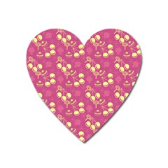 Yellow Pink Cherries Heart Magnet by snowwhitegirl