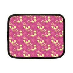 Yellow Pink Cherries Netbook Case (small)  by snowwhitegirl