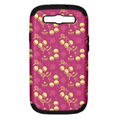 Yellow Pink Cherries Samsung Galaxy S Iii Hardshell Case (pc+silicone) by snowwhitegirl