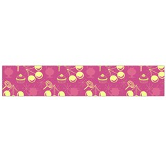 Yellow Pink Cherries Large Flano Scarf  by snowwhitegirl
