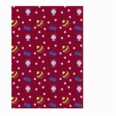 Cakes And Sundaes Red Large Garden Flag (two Sides)