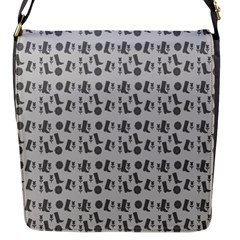 Boots Grey Flap Messenger Bag (s) by snowwhitegirl