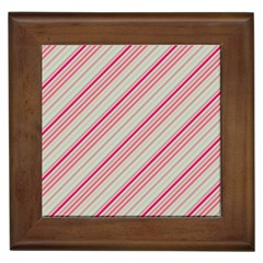 Candy Diagonal Lines Framed Tiles by snowwhitegirl