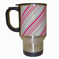 Candy Diagonal Lines Travel Mugs (white) by snowwhitegirl