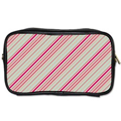 Candy Diagonal Lines Toiletries Bags 2-side