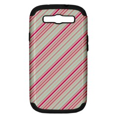 Candy Diagonal Lines Samsung Galaxy S Iii Hardshell Case (pc+silicone) by snowwhitegirl