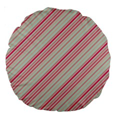 Candy Diagonal Lines Large 18  Premium Round Cushions