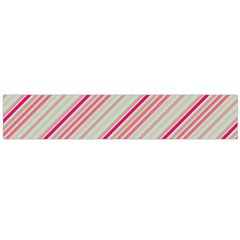 Candy Diagonal Lines Large Flano Scarf  by snowwhitegirl