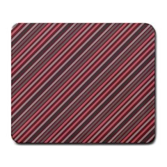 Brownish Diagonal Lines Large Mousepads by snowwhitegirl