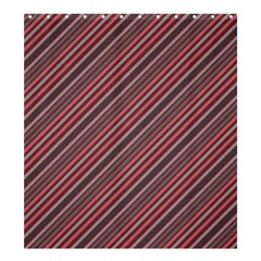 Brownish Diagonal Lines Shower Curtain 66  X 72  (large)  by snowwhitegirl