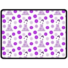 Lilac Dress On White Fleece Blanket (large)  by snowwhitegirl
