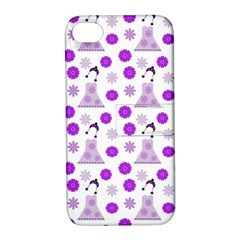 Lilac Dress On White Apple Iphone 4/4s Hardshell Case With Stand by snowwhitegirl