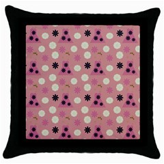 Mauve Dress Throw Pillow Case (black) by snowwhitegirl