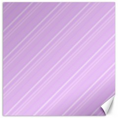 Lilac Diagonal Lines Canvas 20  X 20   by snowwhitegirl