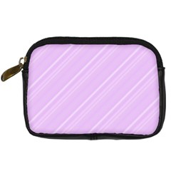 Lilac Diagonal Lines Digital Camera Cases by snowwhitegirl