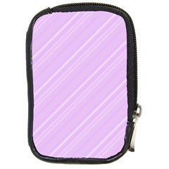 Lilac Diagonal Lines Compact Camera Cases by snowwhitegirl
