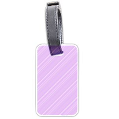 Lilac Diagonal Lines Luggage Tags (one Side)