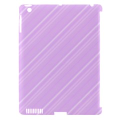 Lilac Diagonal Lines Apple Ipad 3/4 Hardshell Case (compatible With Smart Cover) by snowwhitegirl