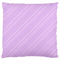 Lilac Diagonal Lines Standard Flano Cushion Case (one Side) by snowwhitegirl