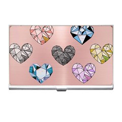 Gem Hearts And Rose Gold Business Card Holders by 8fugoso