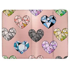 Gem Hearts And Rose Gold Samsung Galaxy Tab 7  P1000 Flip Case by 8fugoso