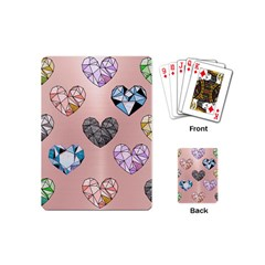 Gem Hearts And Rose Gold Playing Cards (mini)  by 8fugoso