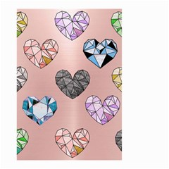 Gem Hearts And Rose Gold Small Garden Flag (two Sides) by 8fugoso
