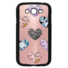 Gem Hearts And Rose Gold Samsung Galaxy Grand Duos I9082 Case (black) by 8fugoso