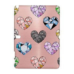 Gem Hearts And Rose Gold Samsung Galaxy Note 10 1 (p600) Hardshell Case by 8fugoso