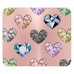 Gem Hearts And Rose Gold Double Sided Flano Blanket (small)  by 8fugoso