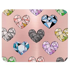 Gem Hearts And Rose Gold Double Sided Flano Blanket (medium)  by 8fugoso